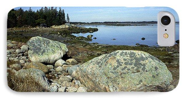 Deer Isle Granite Shoreline Phone Case by Thomas R Fletcher