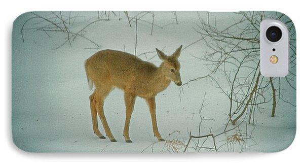 Deer Winter Phone Case by Karol Livote