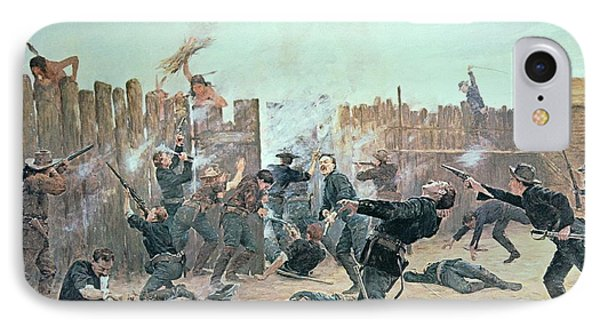 Defending The Fort IPhone Case by Charles Schreyvogel