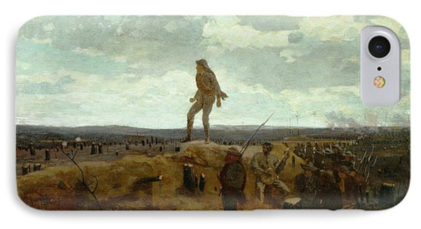 Defiance - Inviting A Shot Before Petersburg Phone Case by Winslow Homer