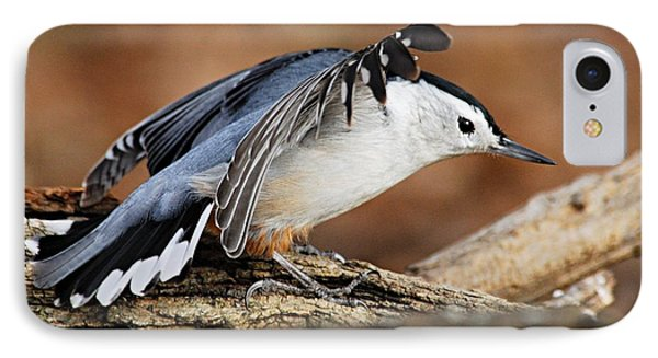 Defiant Nuthatch Phone Case by Larry Ricker