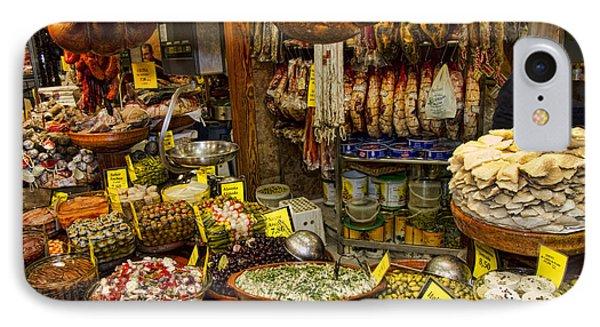 Deli In The Olivar Market In Palma Mallorca Spain Phone Case by David Smith
