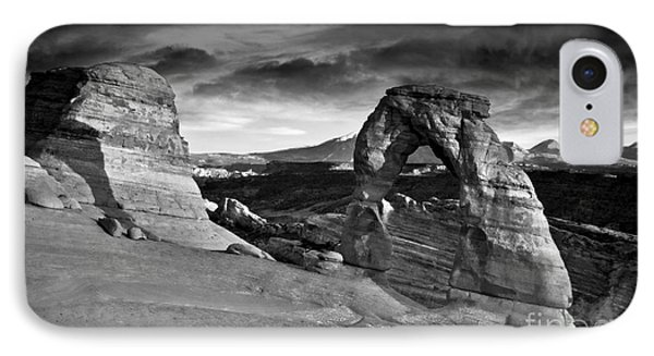 Delicate Arch Bw IPhone Case by Larry Carr