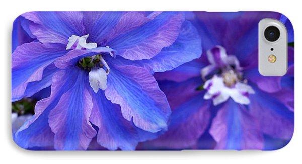 Delightful Delphinia Flowers Phone Case by Sabrina L Ryan