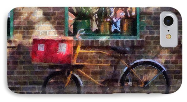 Delivery Bicycle Greenwich Village Phone Case by Susan Savad