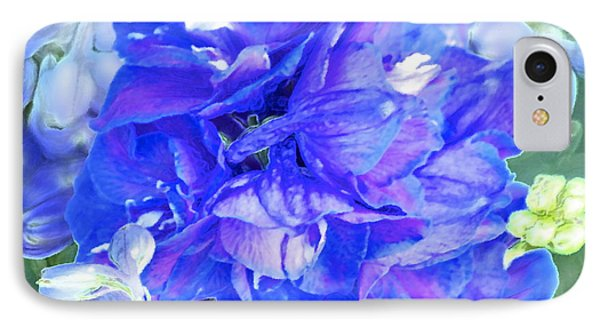 Delphinium Blue Phone Case by Gwyn Newcombe