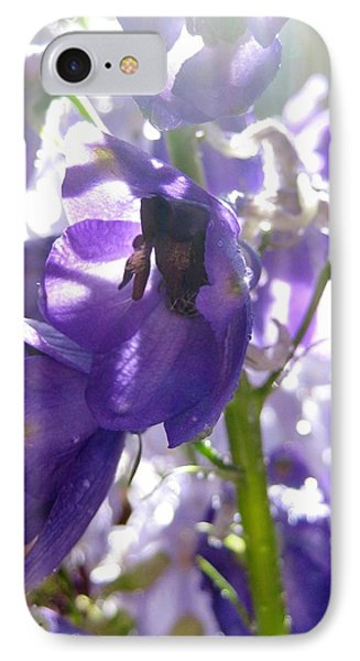 Delphiniums IPhone Case by Bonnie Goedecke