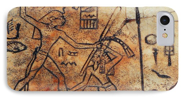 Den Striking Down Asiatic Tribesman IPhone Case by Photo Researchers