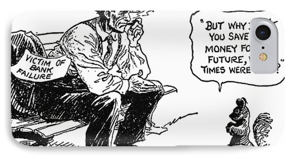 Depression Cartoon 1932 Phone Case by Granger