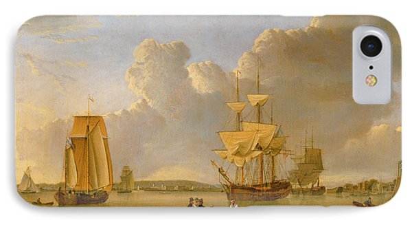 Deptford On Thames With A Distant View Of Greenwich Phone Case by John of Hull Ward