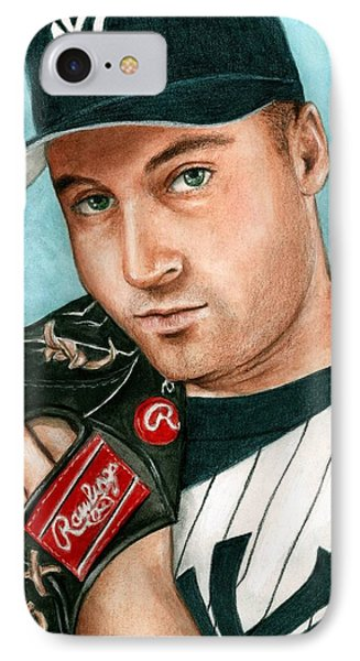 Derek Jeter  IPhone Case by Bruce Lennon