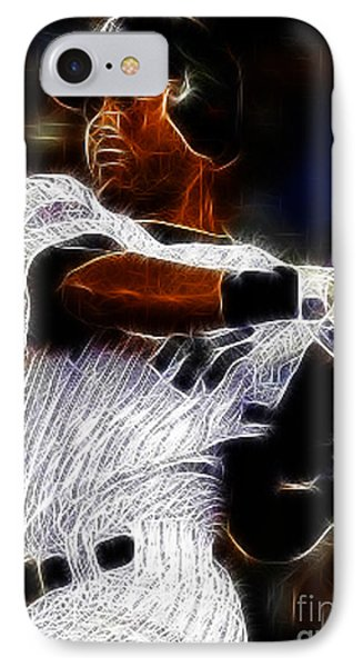 Derek Jeter New York Yankee Phone Case by Paul Ward