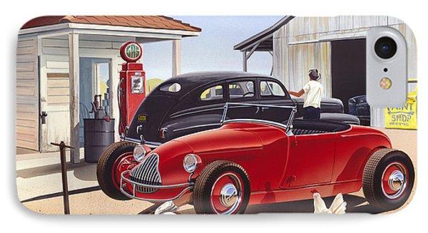 Desert Gas Station IPhone Case by Bruce kaiser