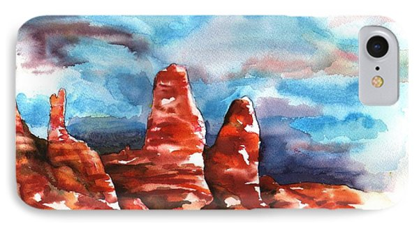 IPhone Case featuring the painting Desert Sentries by Sharon Mick