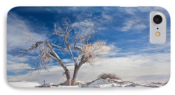Desert Tree In White Sands Phone Case by Ralf Kaiser