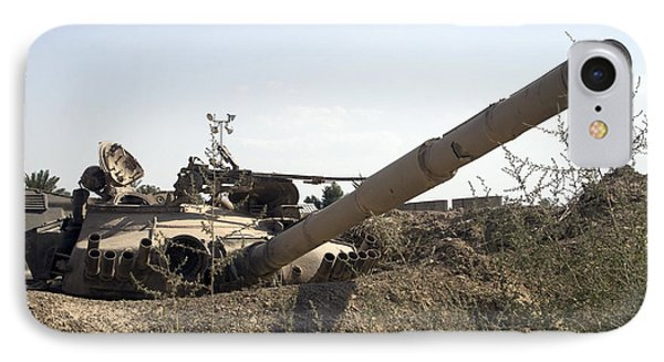 Destroyed Iraqi Tanks Near Camp Slayer Phone Case by Terry Moore