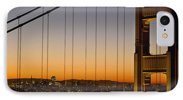 Detail Of The Golden Gate Bridge At Phone Case by Axiom Photographic