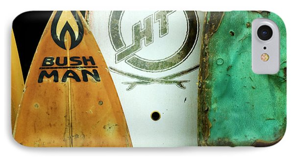 Detail Surfboard Fence Phone Case by Bob Christopher