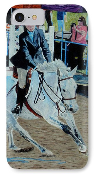 Determination - Horse And Rider - Horseshow Painting IPhone Case