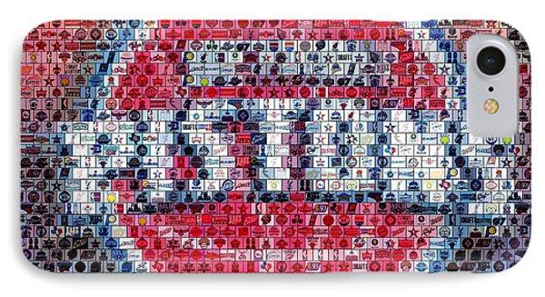 Detroit Pistons Mosaic Phone Case by Paul Van Scott