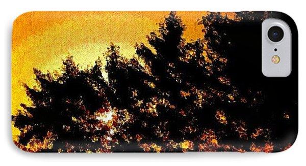 Detroit Sunrise Impressionist Art IPhone Case