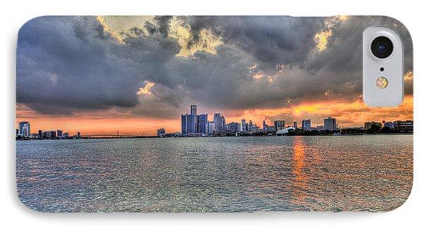 Detroit Sunset  Phone Case by Nicholas  Grunas