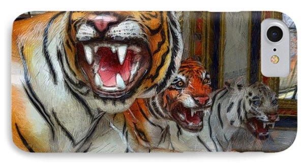 Detroit Tigers Carousel Phone Case by Michelle Calkins