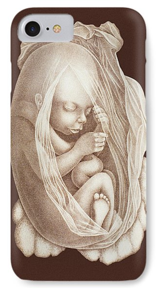 Development Of A Foetus In A Womb, 1891 Phone Case by Mehau Kulyk