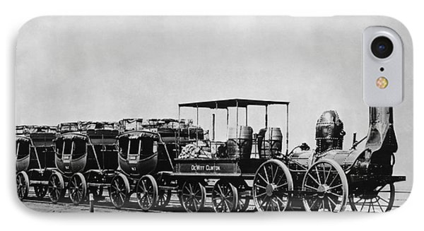 Dewitt Clinton Locomotive And Cars Phone Case by Omikron