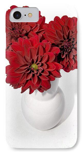 Dhalia On White Phone Case by Susan Smith
