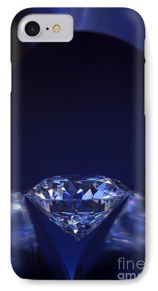 Diamond In Deep-blue Light Phone Case by Atiketta Sangasaeng