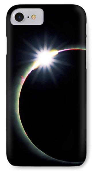 Diamond Ring Effect During Solar Eclipse Phone Case by David Nunuk