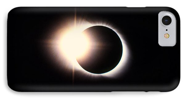 Diamond Ring Effect, Total Solar Eclipse Phone Case by Rev. Ronald Royer