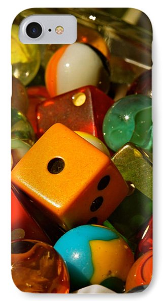 Dice And Marbles IPhone Case by Michael Cinnamond
