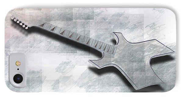 Digital-art E-guitar IIi IPhone Case by Melanie Viola