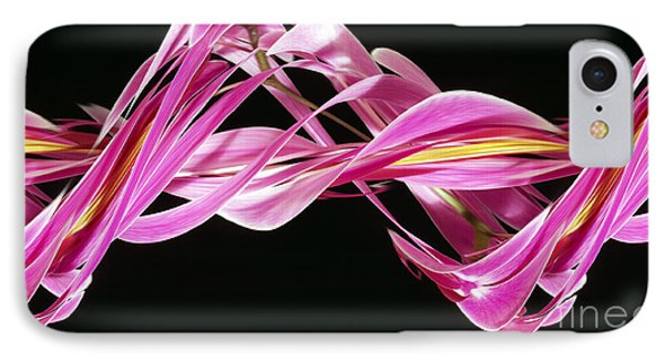 Digital Streak Image Of An Orchid Phone Case by Ted Kinsman