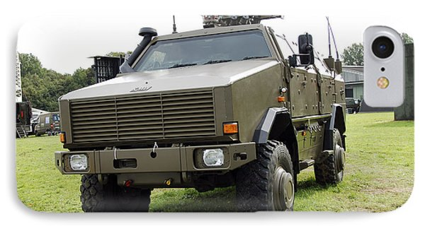Dingo II Vehicle Of The Belgian Army Phone Case by Luc De Jaeger