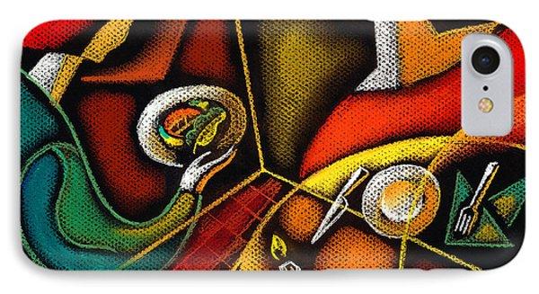 Dinner Phone Case by Leon Zernitsky