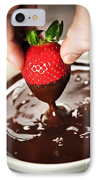 Dipping Strawberry In Chocolate IPhone Case