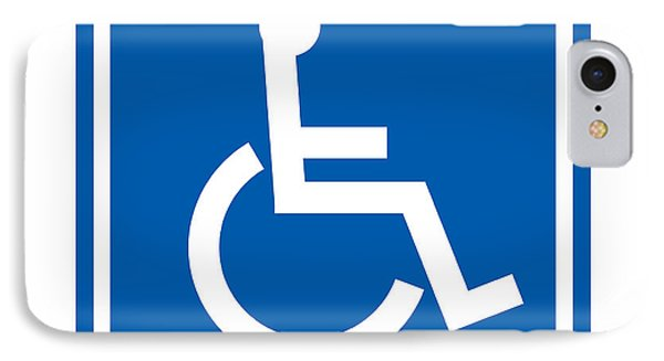 Disability Sign, Computer Artwork Phone Case by