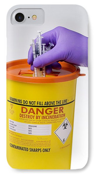 Disposal Of Contaminated Sharps Phone Case by Paul Rapson