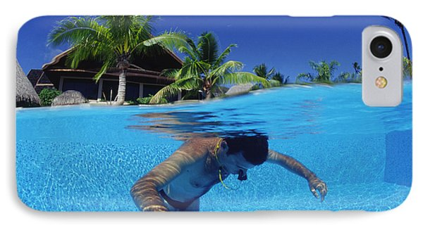 Diver Training In Pool IPhone Case by Alexis Rosenfeld