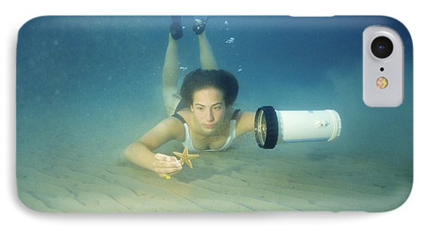Diving Contact Lenses IPhone Case by Alexis Rosenfeld