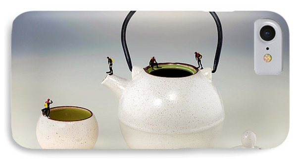 Diving On Tea Pot And Cup Phone Case by Paul Ge