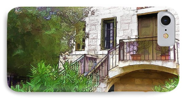 IPhone Case featuring the photograph Do-00490 Balcony Of Old House by Digital Oil