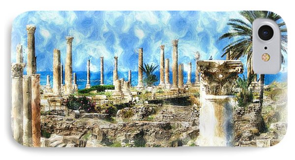 Do-00550 Ruins And Columns IPhone Case