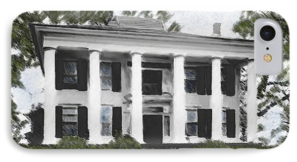 Dodd House Georgia Plantation Phone Case by Lianne Schneider