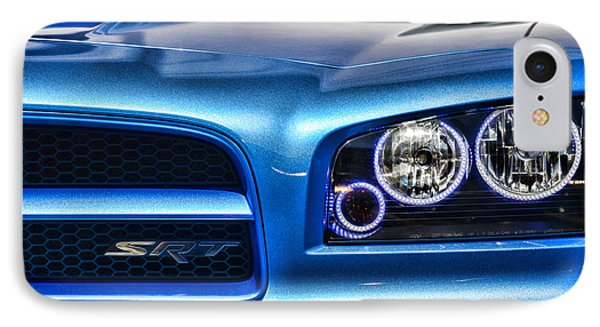 Dodge Charger Front IPhone Case by Paul Ward