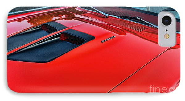 Dodge Super Bee Hood  In Red IPhone Case by Paul Ward