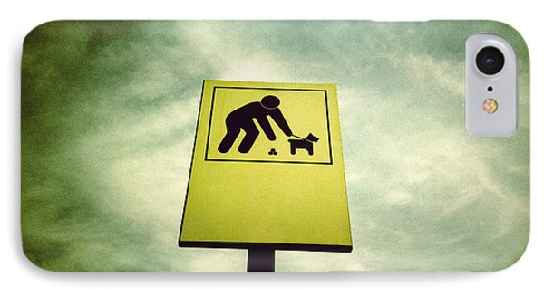 Dog Fouling Sign Phone Case by Kevin Curtis